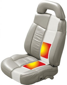 Heated seat pads added to vehicle