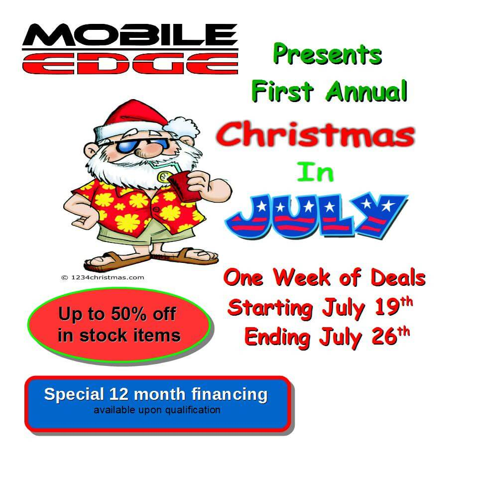 Christmas in July Sale At Mobile Edge
