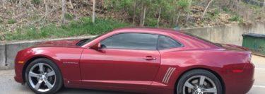 Chevrolet Camaro Window Tint for Repeat Lehighton Client