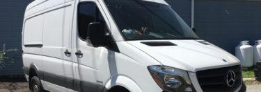 Northampton Client Gets Sprinter Van Interior Panels and Tint