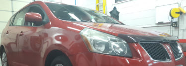 Sound Deadening and Safety Camera for Lehighton Pontiac Vibe