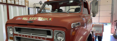 """Big Red Truck"": 1972 Chevrolet C60 Fire Truck Gets New Radio Upgrade"